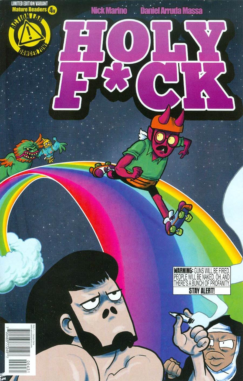 Holy F*ck #4 Cover C Variant Satan On Rainbows Cover