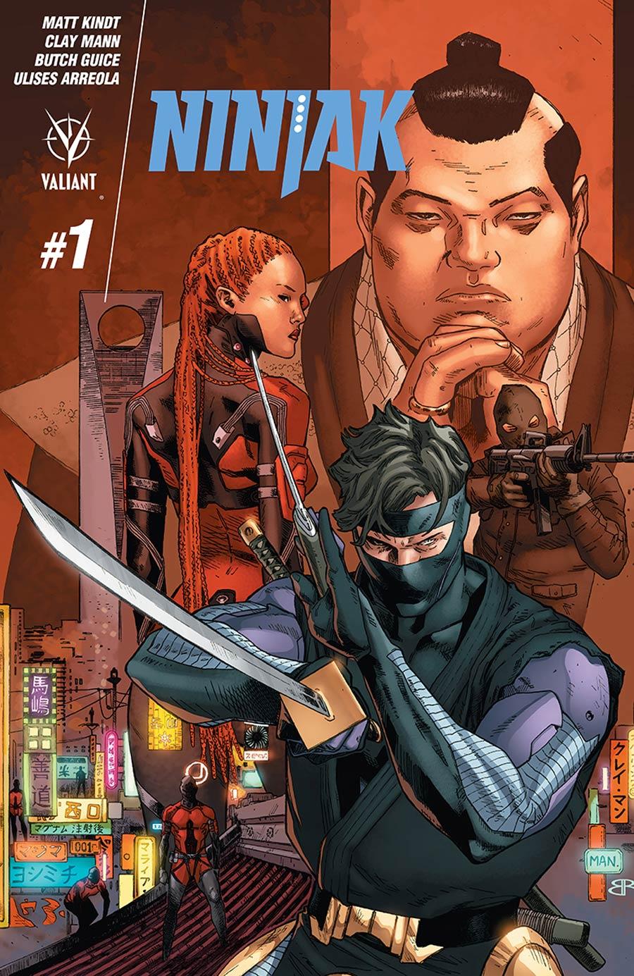 Ninjak Vol 3 #1 Cover B Variant Clay Mann Cover