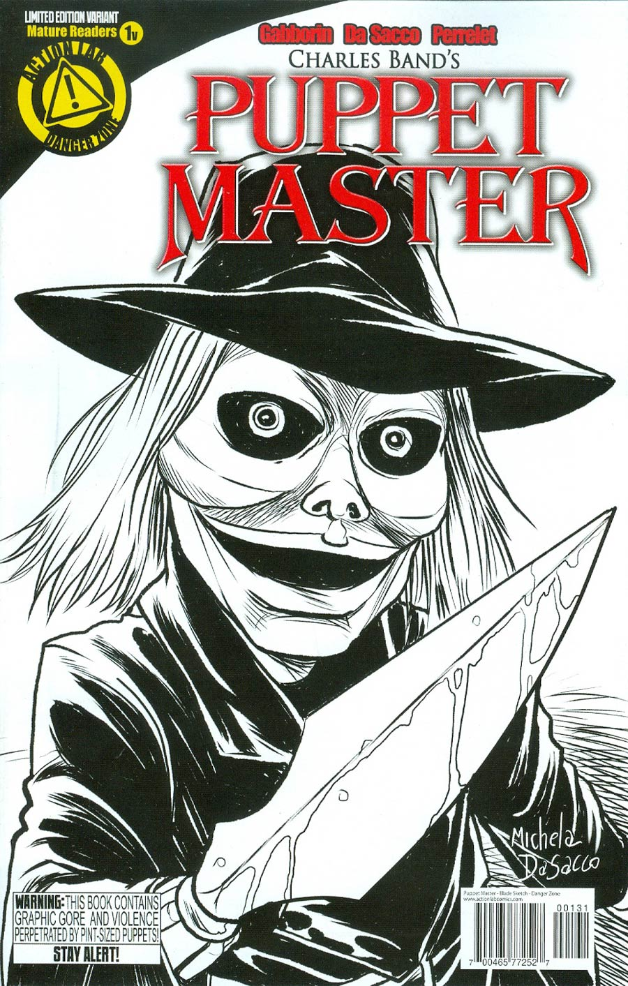 Puppet Master #1 Cover E Variant Blade Sketch Cover