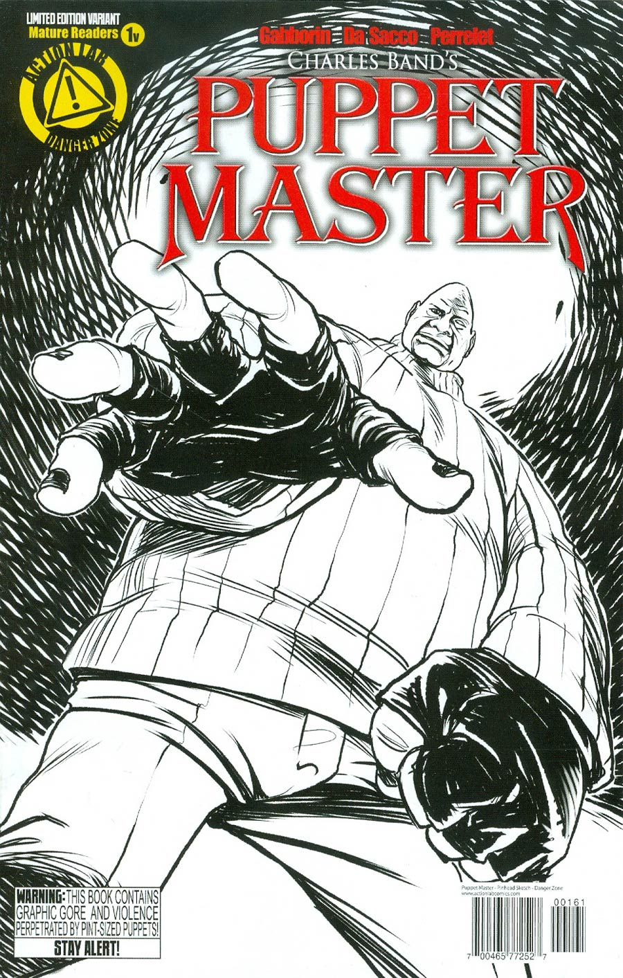 Puppet Master #1 Cover G Variant Pinhead Sketch Cover