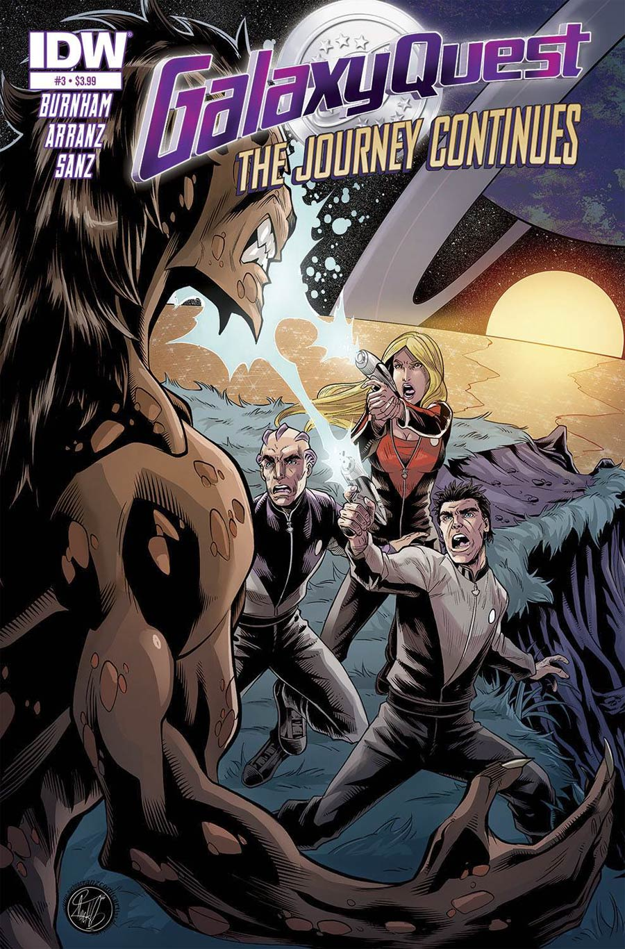 Galaxy Quest Journey Continues #3 Cover A Regular Nacho Arranz Cover