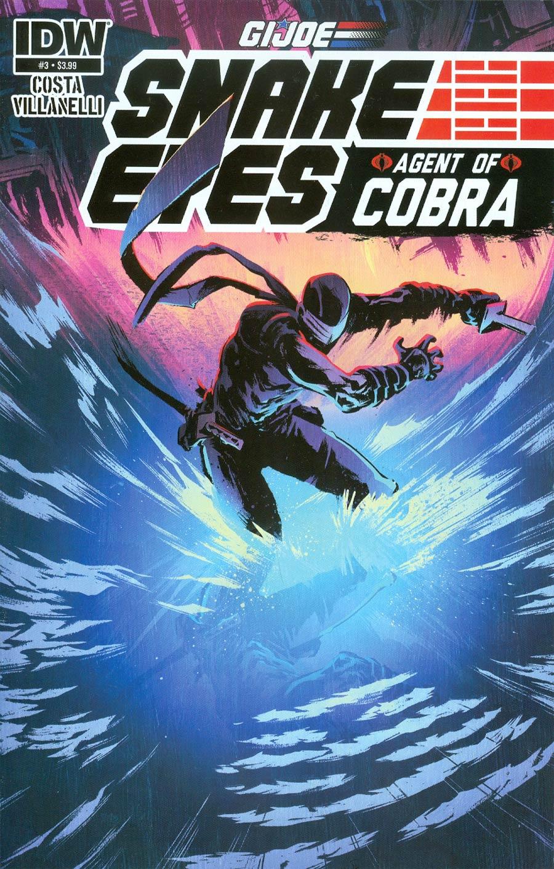 GI Joe Snake Eyes Agent Of Cobra #3 Cover A Regular Paolo Villanelli Cover