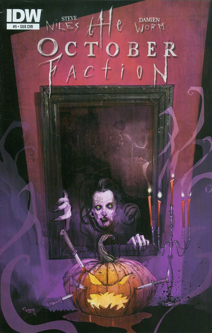 October Faction #5 Cover B Variant Damien Worm Subscription Cover