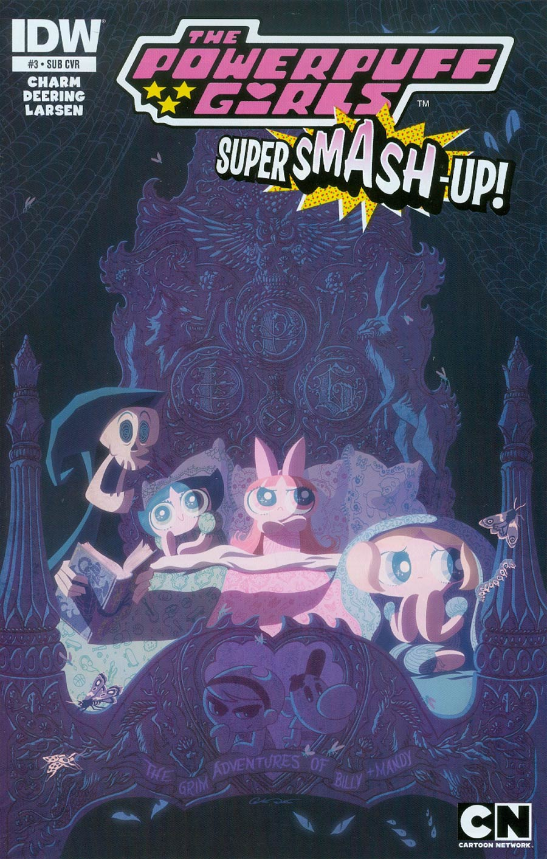 Powerpuff Girls Super Smash-Up #3 Cover B Variant George Caltsoudas Subscription Cover