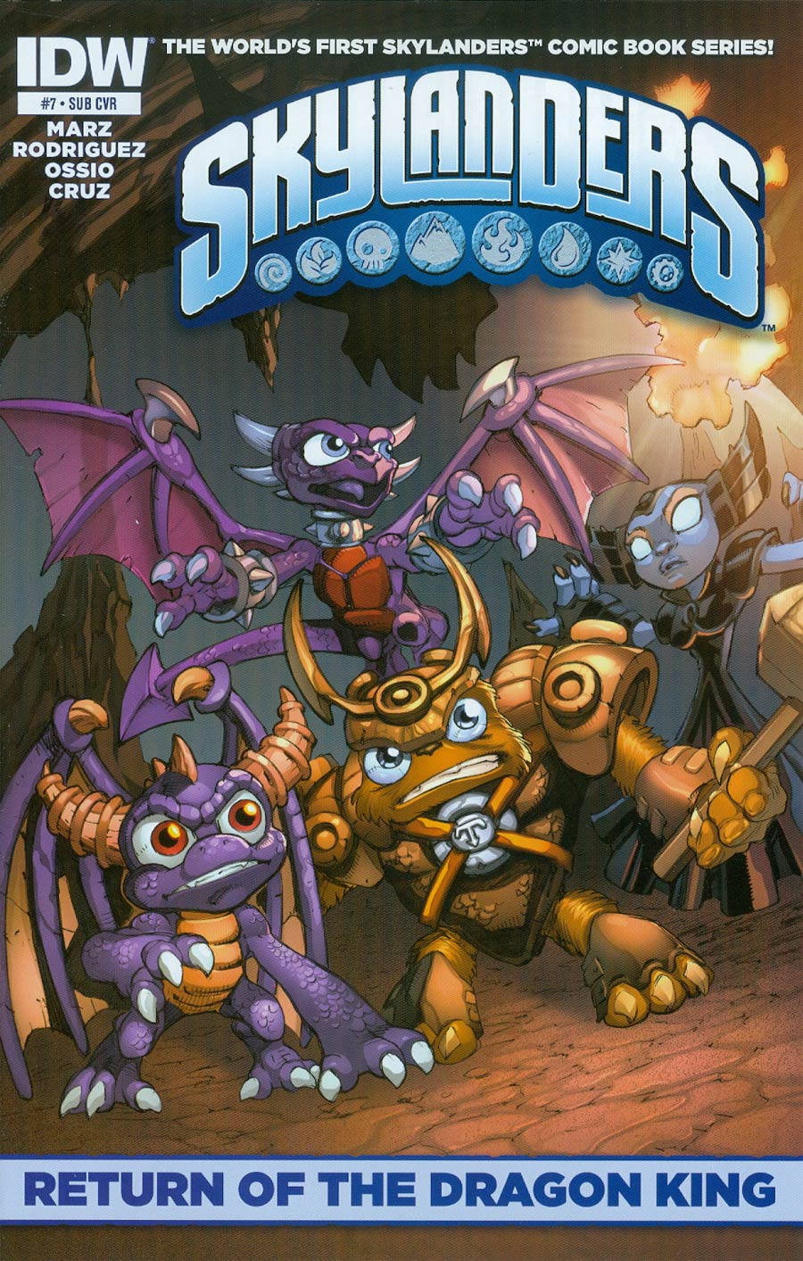 Skylanders #7 Cover B Variant Mike Bowden Subscription Cover