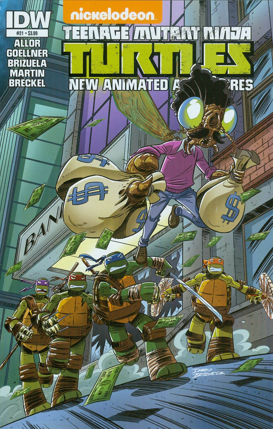 Teenage Mutant Ninja Turtles New Animated Adventures #21 Cover A Regular Dario Brizuela Cover