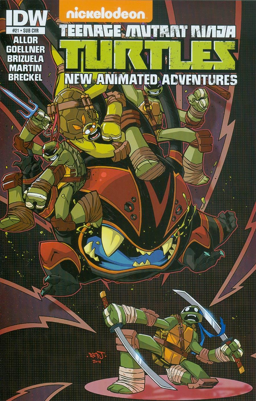Teenage Mutant Ninja Turtles New Animated Adventures #21 Cover B Variant Jon Sommariva Subscription Cover