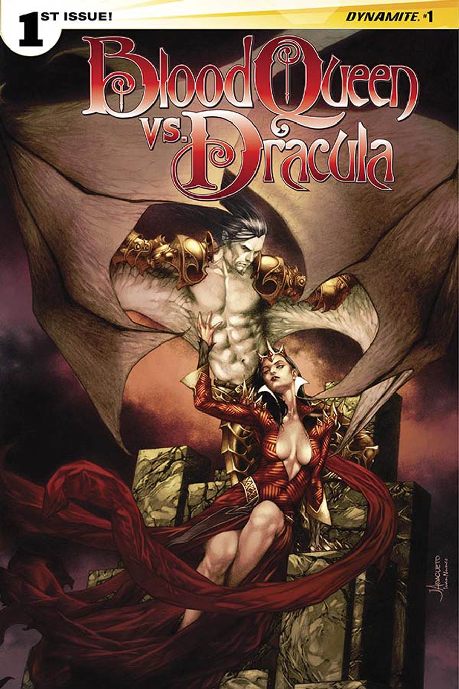 Blood Queen vs Dracula #1 Cover A Regular Jay Anacleto Cover