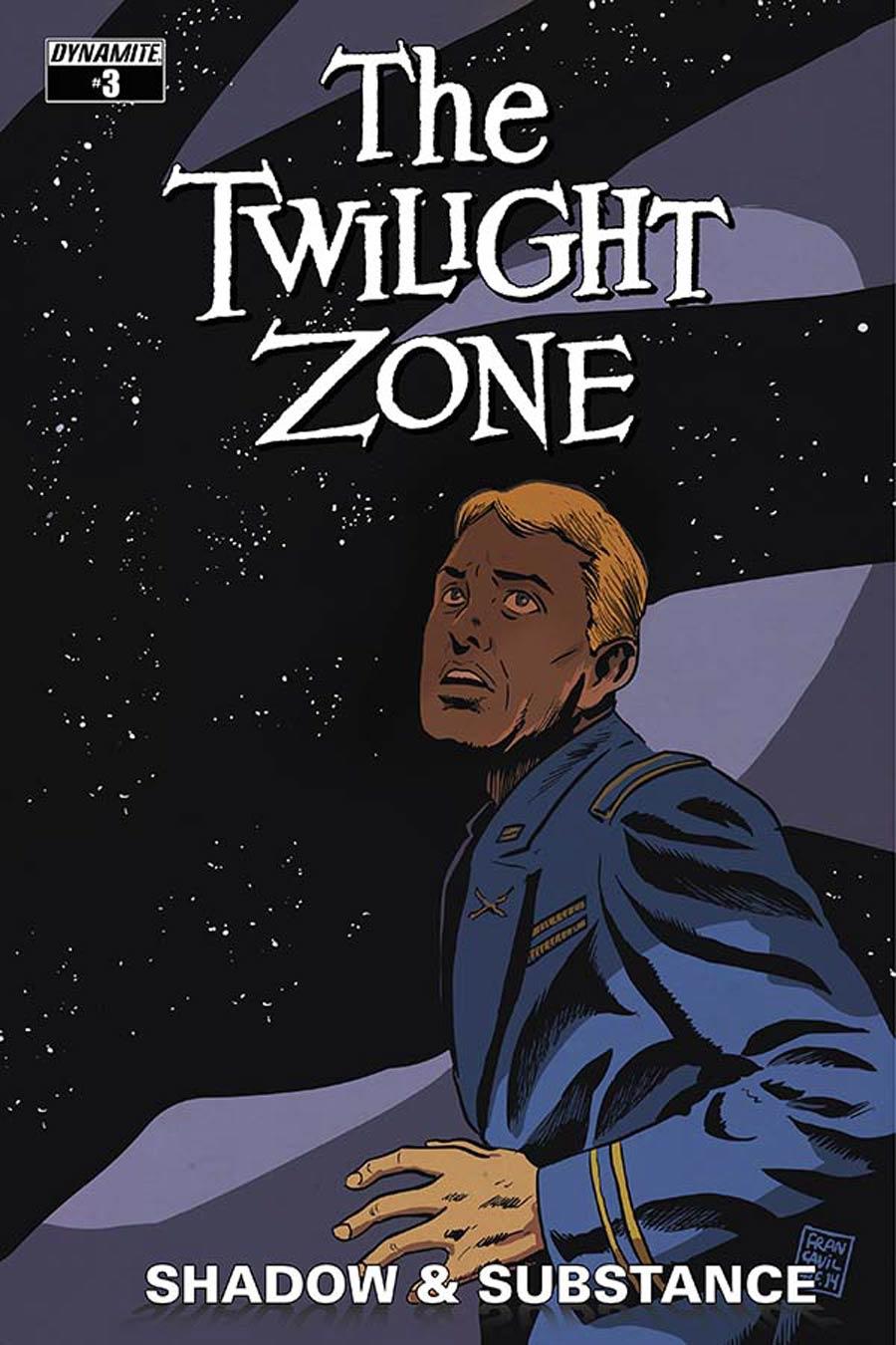 Twilight Zone Shadow & Substance #3 Cover B Variant Francesco Francavilla Cover