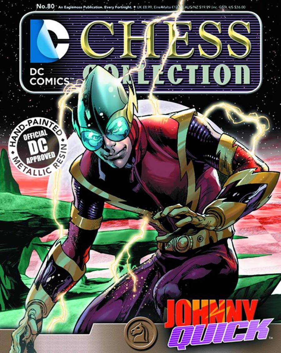 DC Superhero Chess Figure Collector Magazine #80 Johnny Quick White Knight