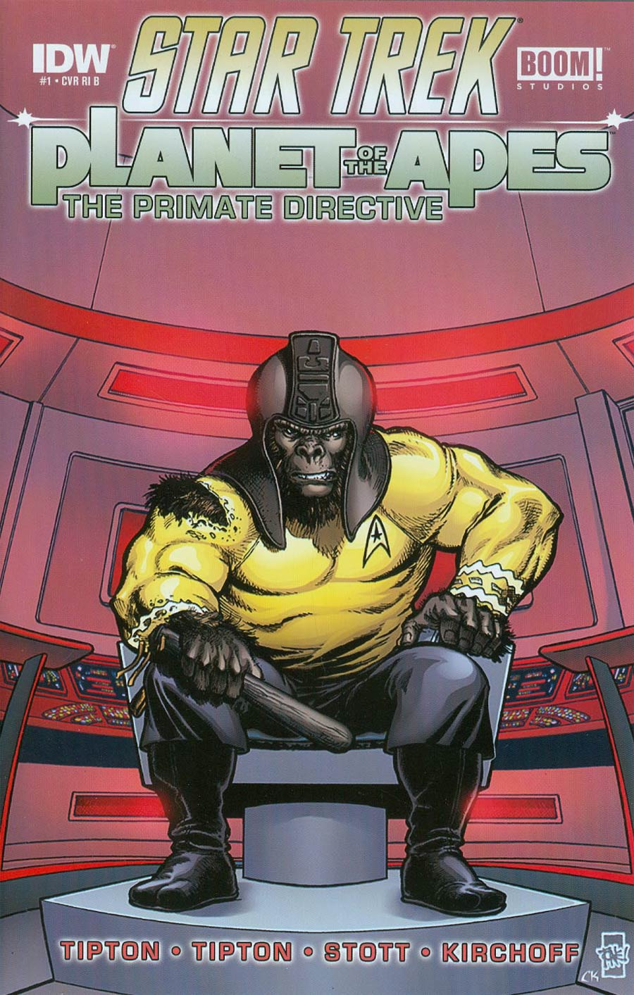 Star Trek Planet Of The Apes #1 Cover E Incentive Tone Rodriguez Variant Cover