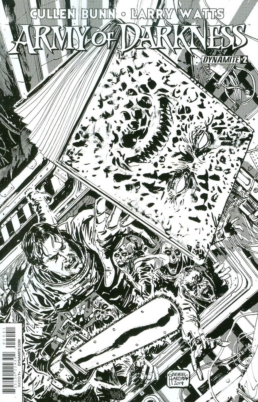 Army Of Darkness Vol 4 #2 Cover D Incentive Gabriel Hardman Black & White Cover