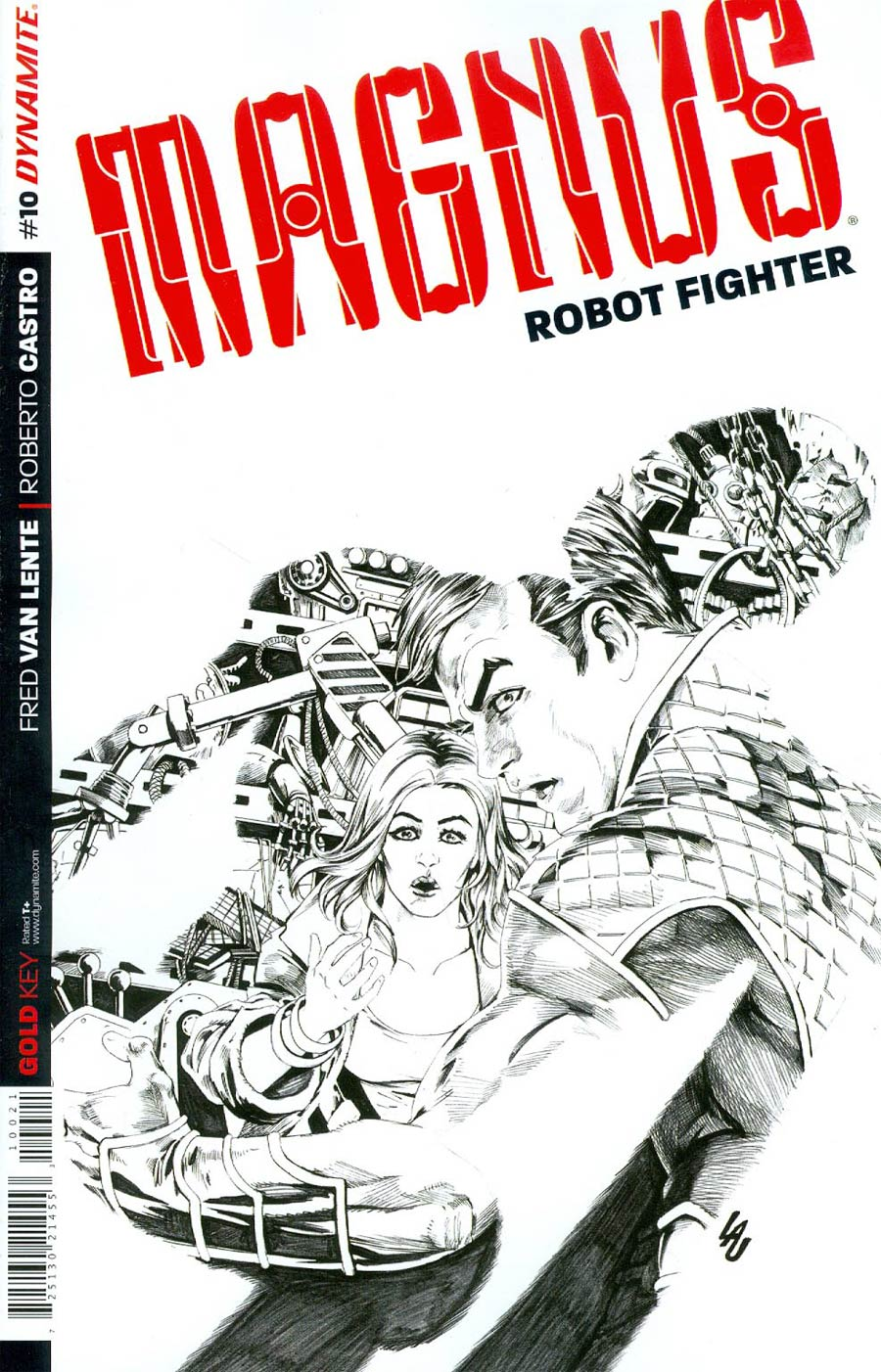 Magnus Robot Fighter Vol 4 #10 Cover C Incentive Jonathan Lau Black & White Cover