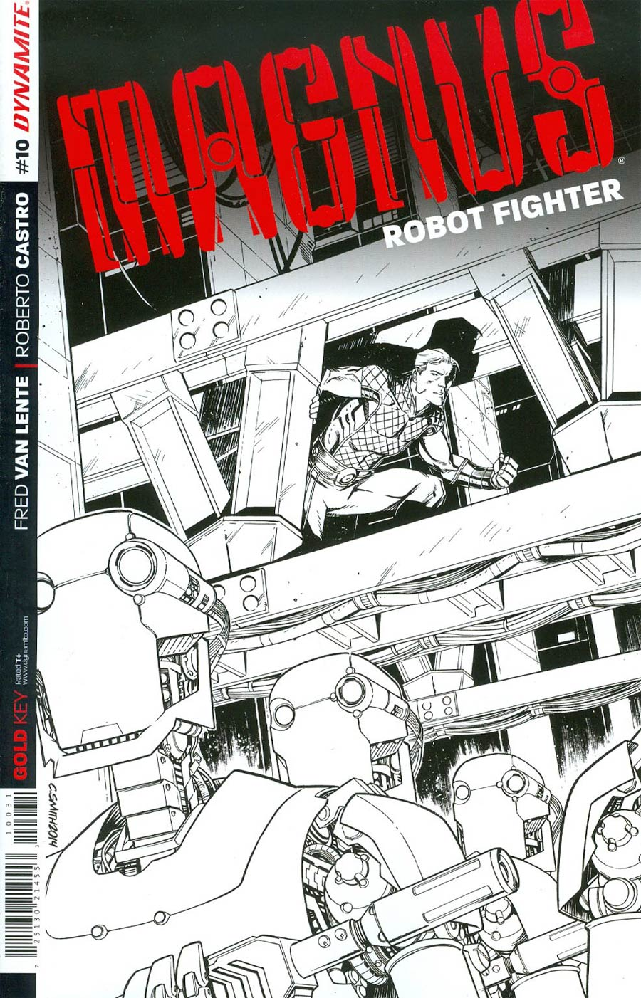 Magnus Robot Fighter Vol 4 #10 Cover D Incentive Cory Smith Black & White Cover