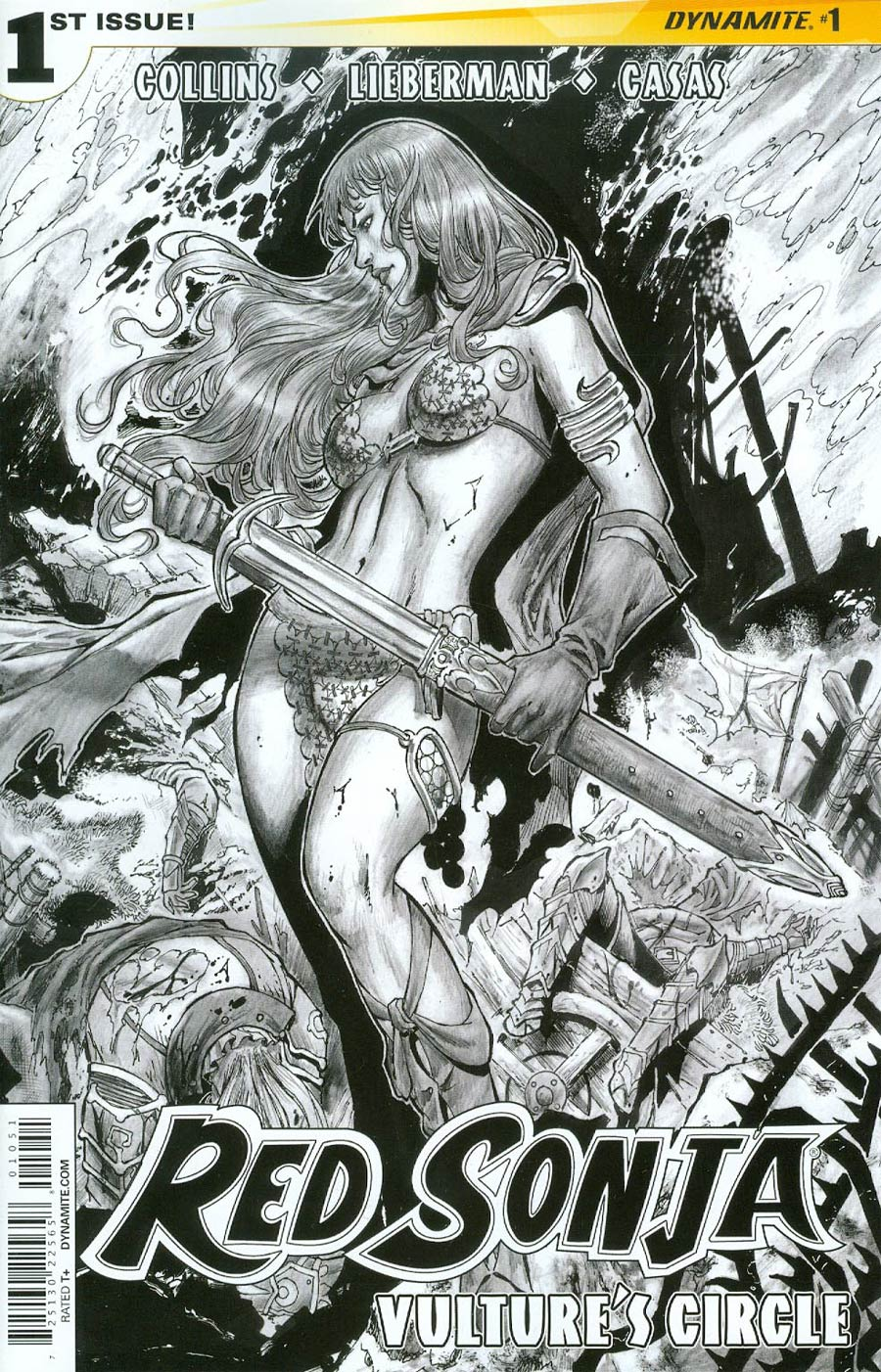 Red Sonja Vultures Circle #1 Cover E Incentive Walter Geovani Black & White Cover