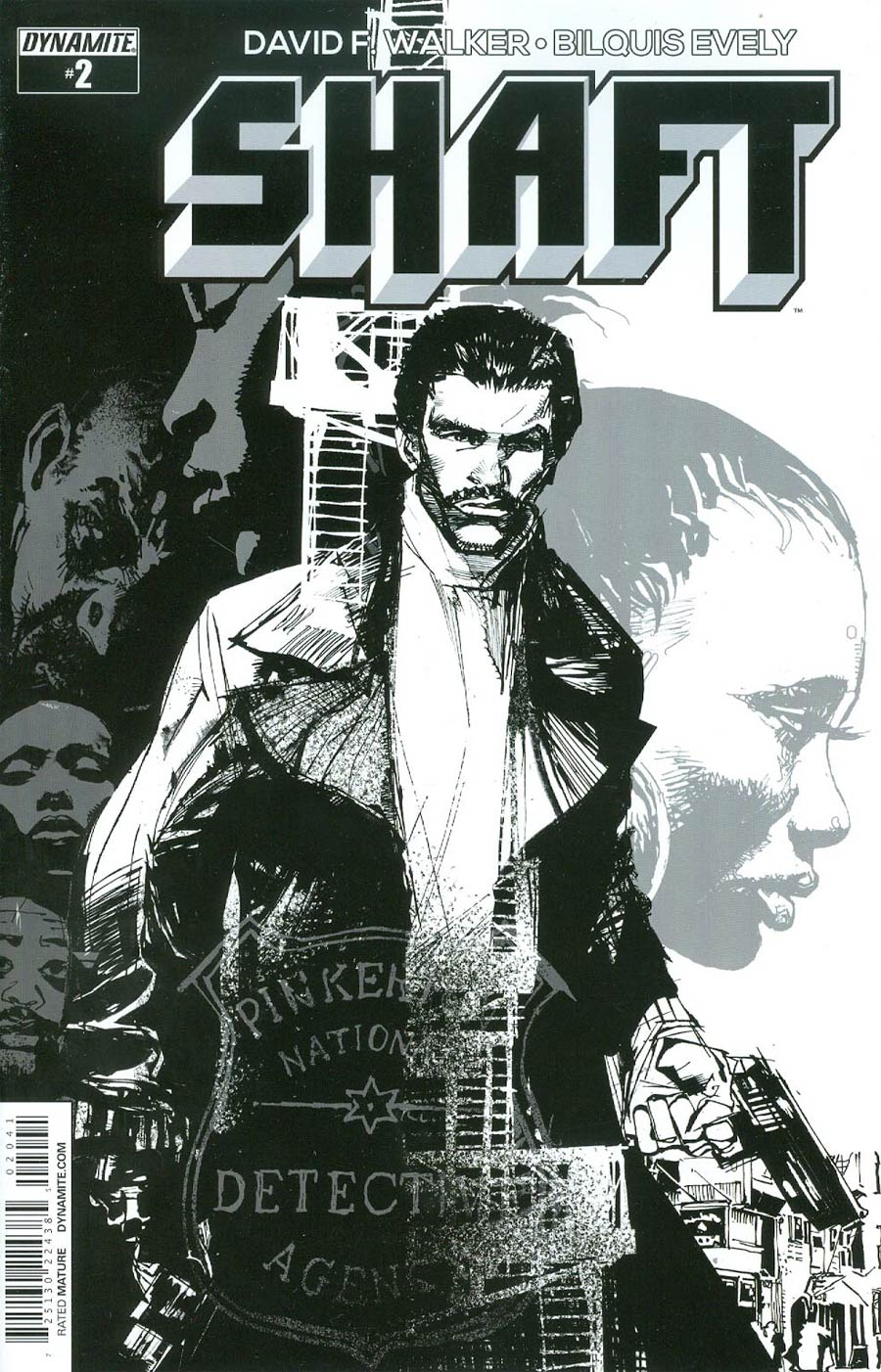 Shaft #2 Cover D Incentive Denys Cowan Black & White Cover