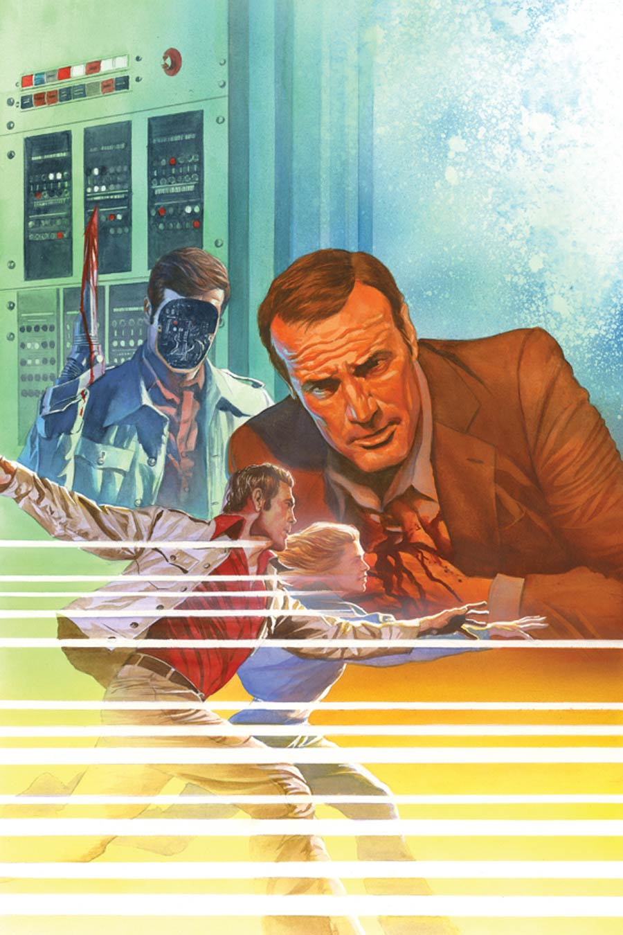 Six Million Dollar Man Season 6 #5 Cover G High-End Alex Ross Virgin Art Ultra-Limited Variant Cover (ONLY 50 COPIES IN EXISTENCE!)