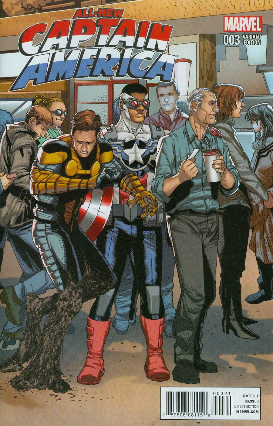 All-New Captain America #3 Cover C Incentive Welcome Home Variant Cover