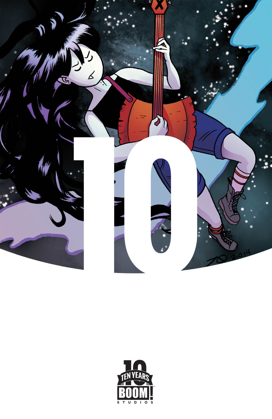 Adventure Time Marceline Gone Adrift #1 Cover D Incentive Joe Quinones 10 Years Anniversary Virgin Variant Cover