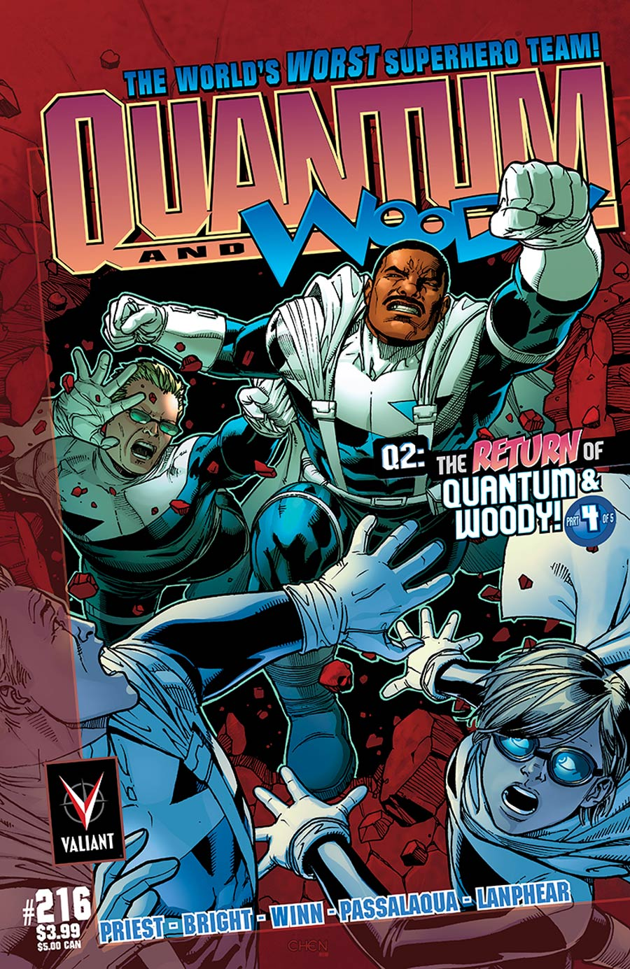 Q2 Return Of Quantum & Woody #4 Cover C Incentive Sean Chen Throwback Variant Cover