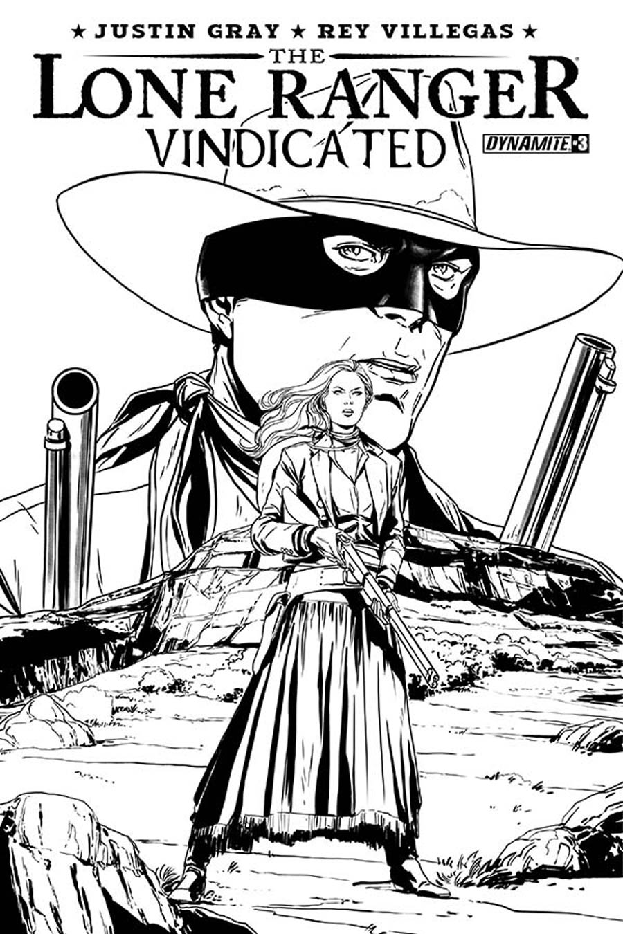 Lone Ranger Vindicated #3 Cover B Incentive Marc Laming Black & White Cover
