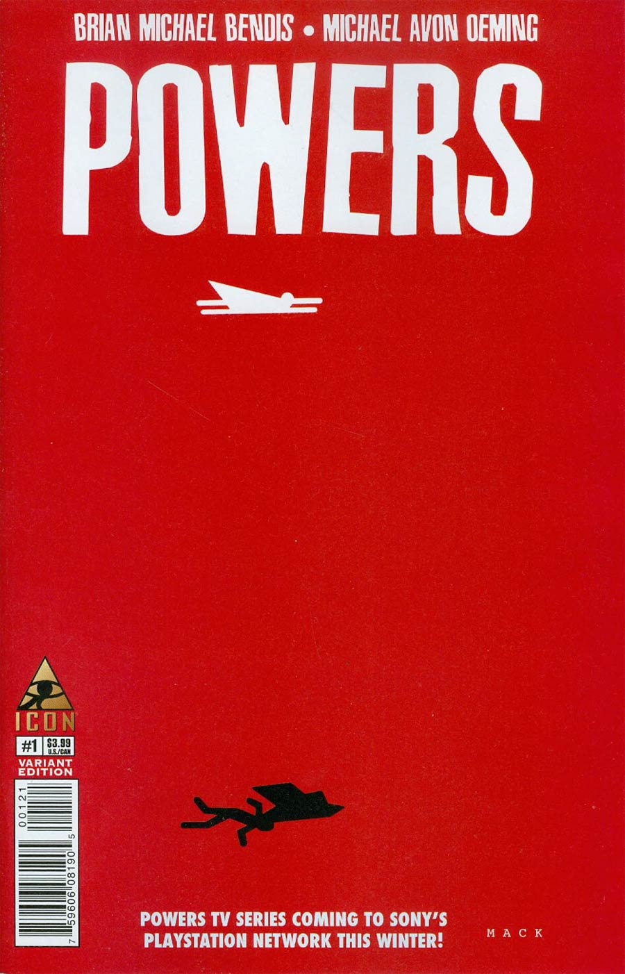 Powers Vol 4 #1 Cover B Incentive David Mack Variant Cover