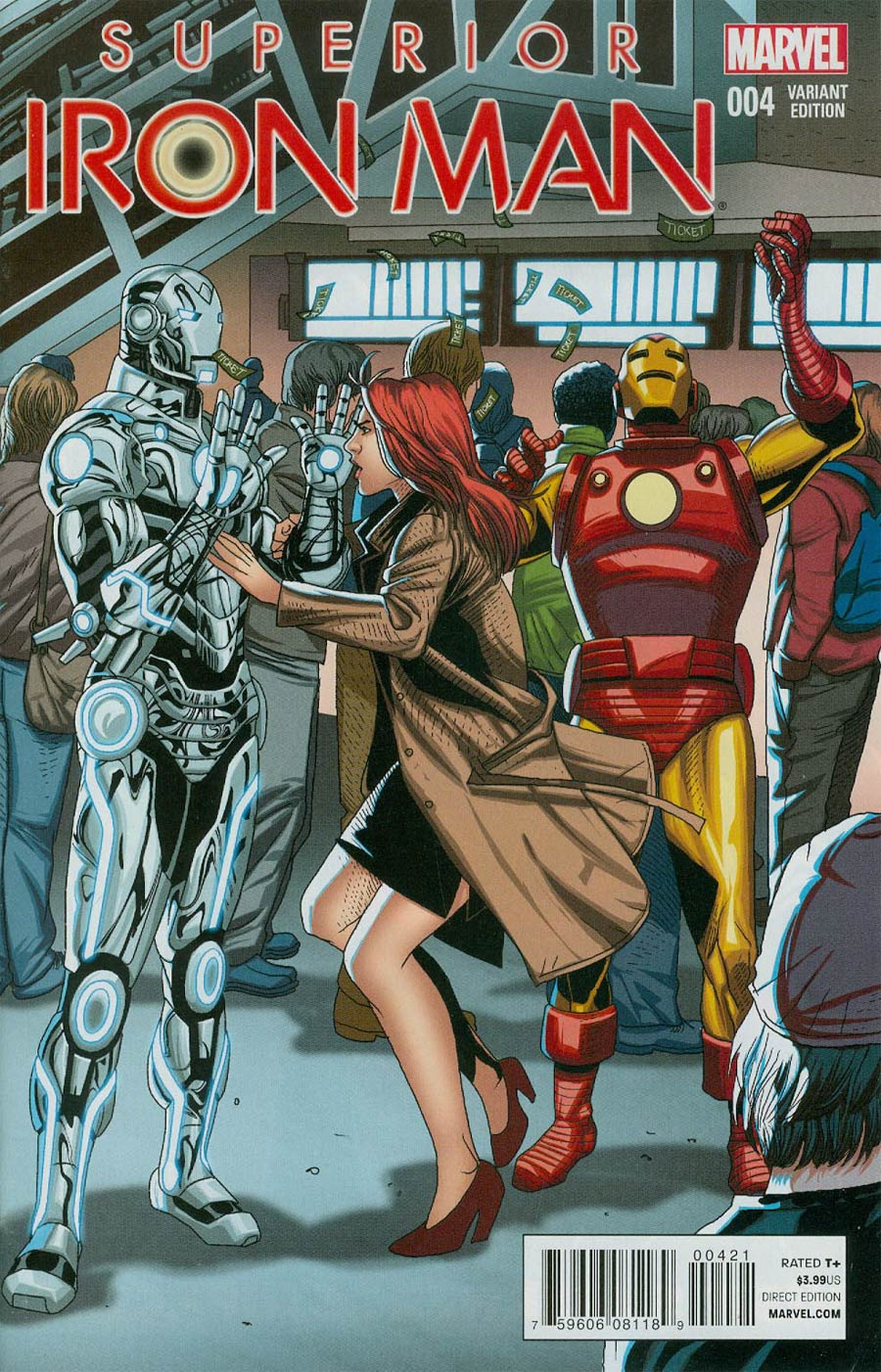 Superior Iron Man #4 Cover B Incentive Welcome Home Variant Cover