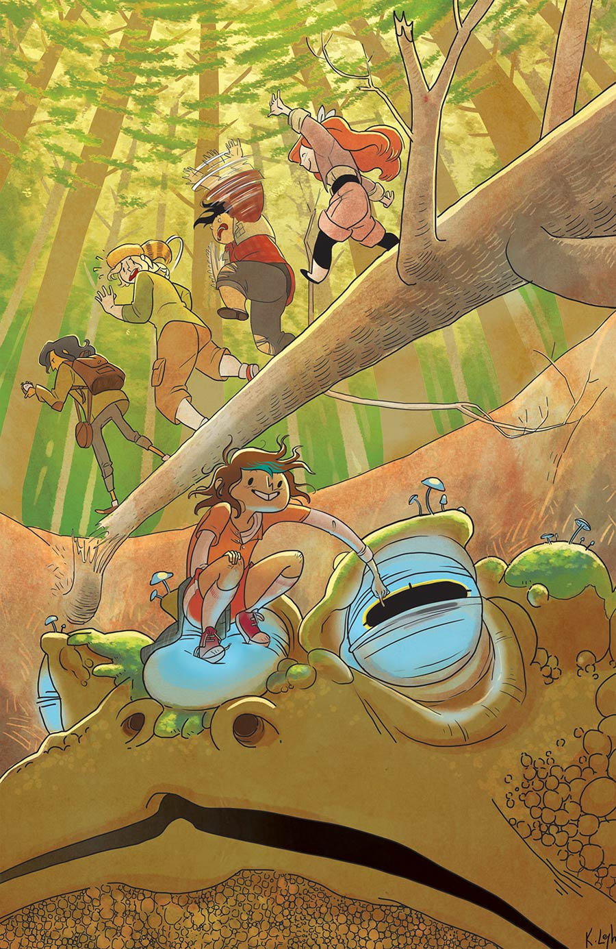 Lumberjanes #10 Cover B Incentive Kat Leyh Virgin Variant Cover