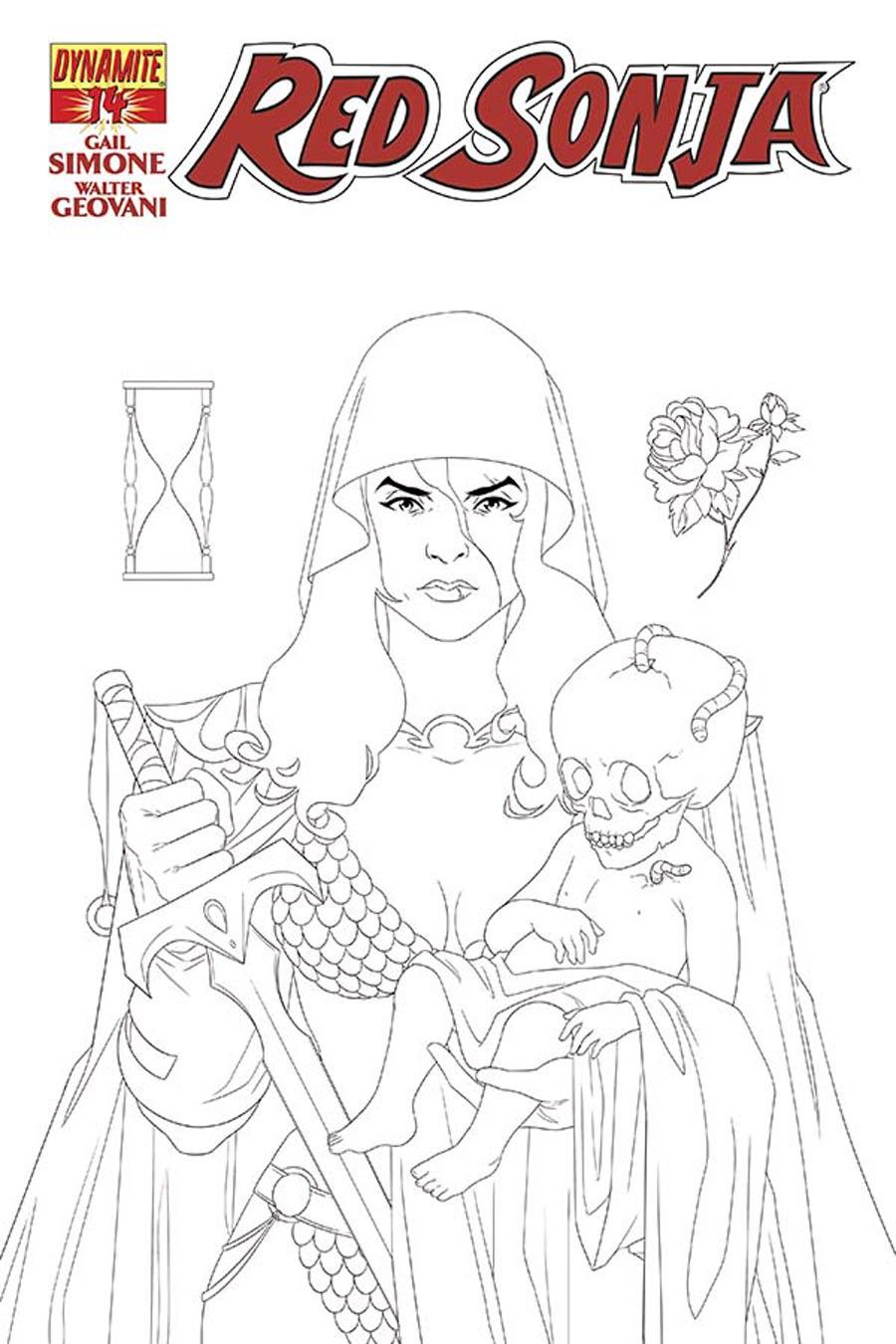 Red Sonja Vol 5 #14 Cover E Incentive Yasmin Liang Black & White Cover
