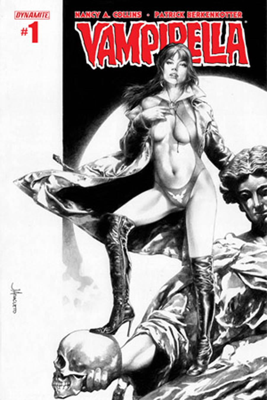 Vampirella Vol 5 #1 Cover T High-End Jay Anacleto Black & White Ultra-Limited Variant Cover