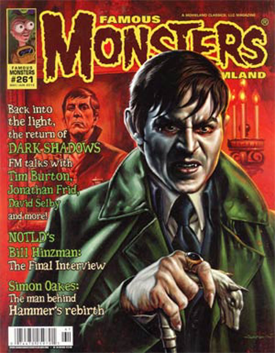 Famous Monsters Of Filmland #261 May / Jun 2012 Newsstand Edition Depp Barnabus Cover