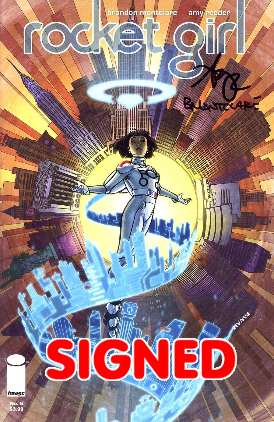 Rocket Girl #6 Cover B Signed By Amy Reeder & Brandon Montclare