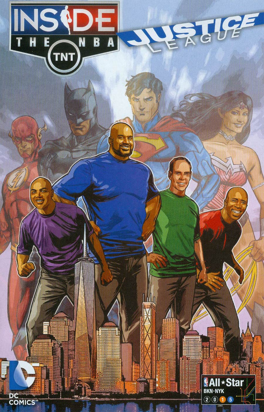 Justice League Goes Inside The NBA All Star 2015
