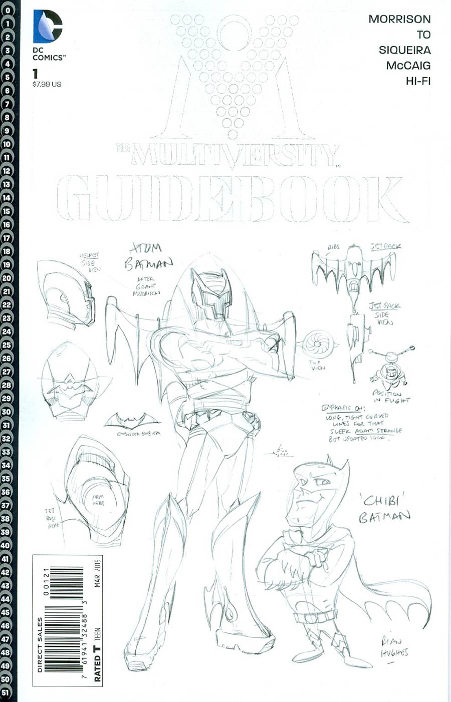Multiversity Guidebook #1 Cover B Incentive Rian Hughes Sketch Cover