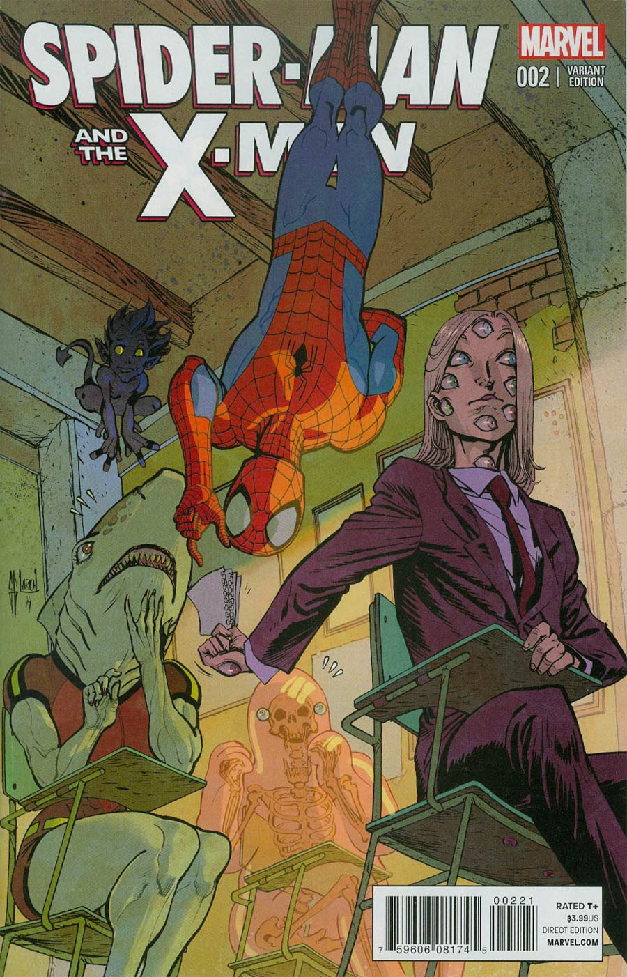 Spider-Man And The X-Men #2 Cover B Incentive Guillem March Variant Cover