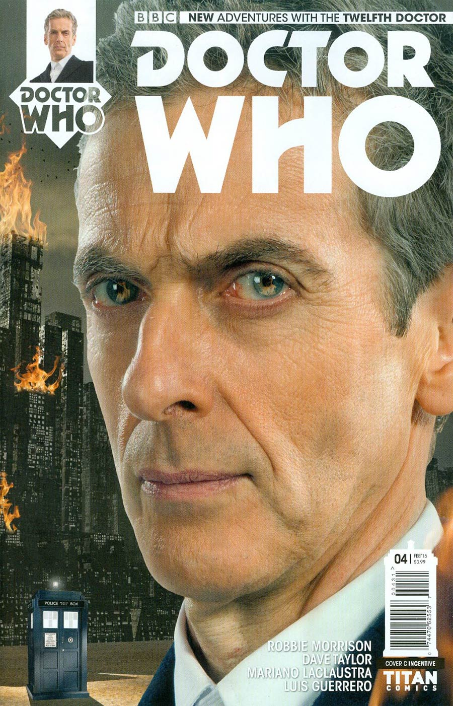 Doctor Who 12th Doctor #4 Cover C Incentive Doctor Photo Variant Cover
