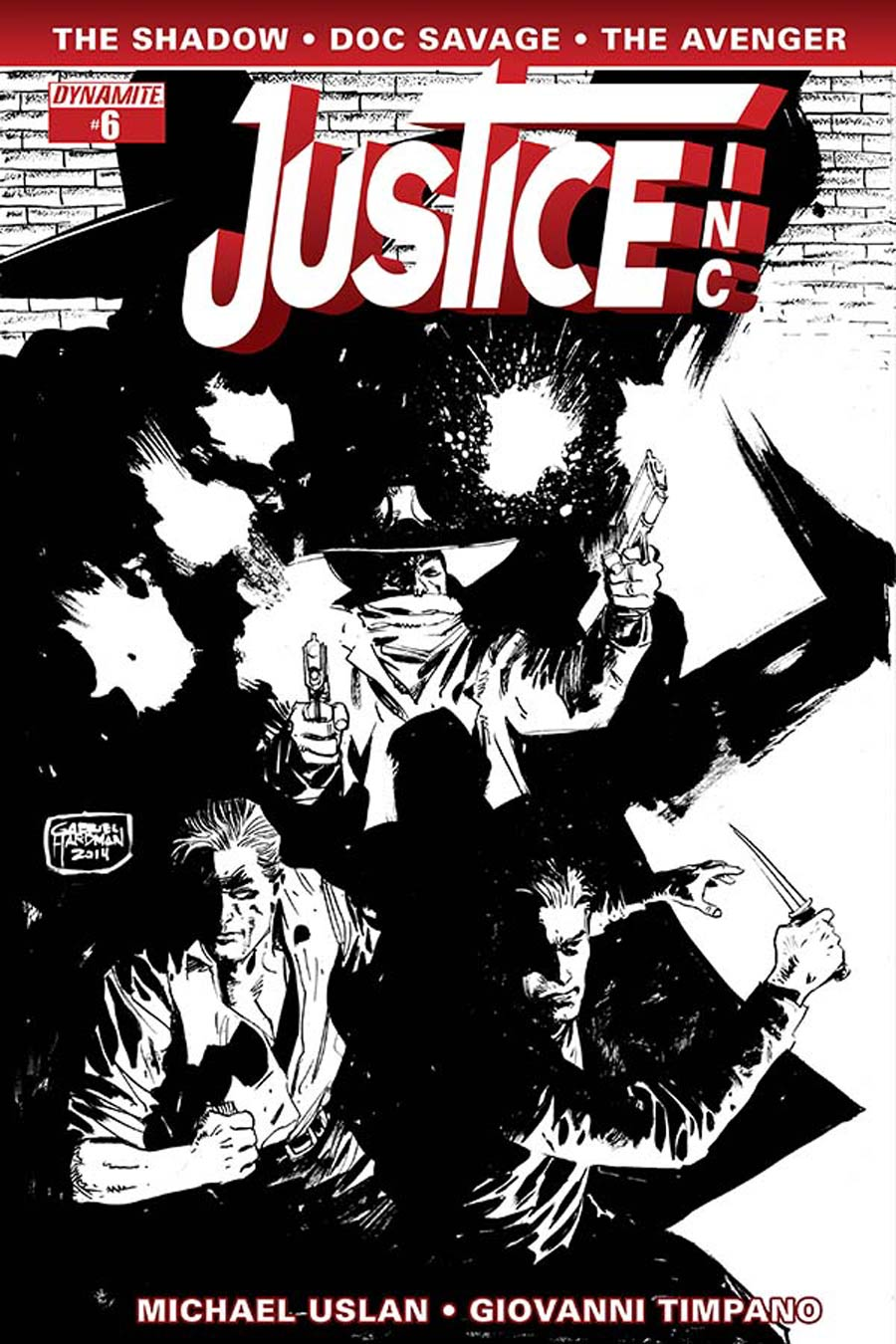 Justice Inc Vol 3 #6 Cover E Incentive Gabriel Hardman Black & White Cover