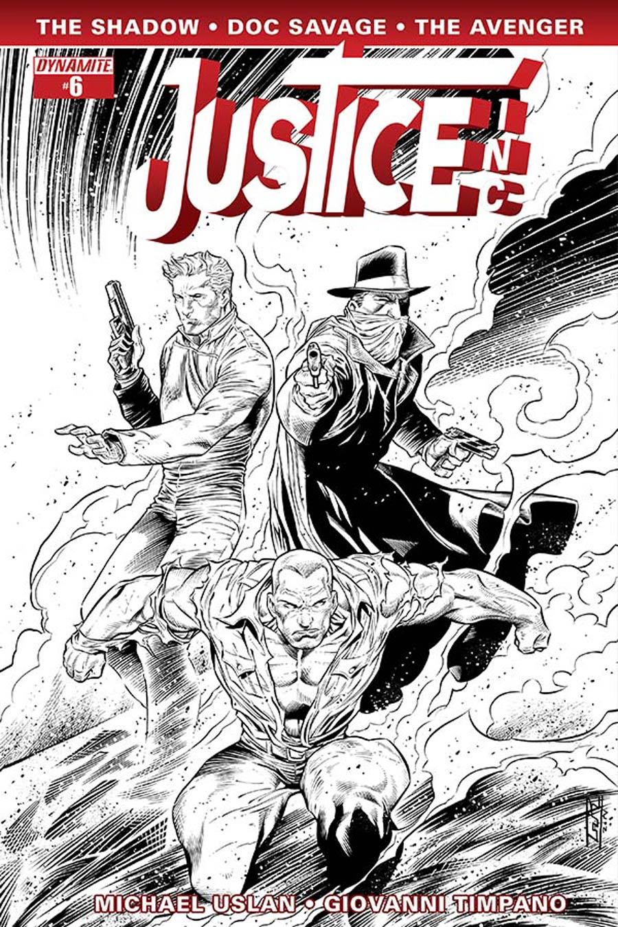 Justice Inc Vol 3 #6 Cover F Incentive Ardian Syaf Black & White Cover