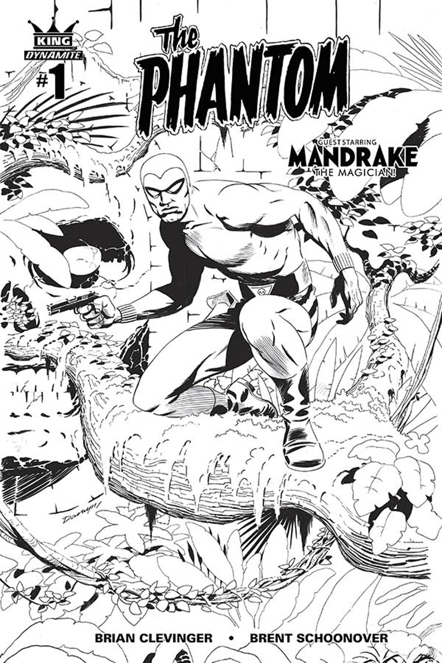 King Phantom #1 Cover B Incentive Darwyn Cooke Black & White Connecting Cover (4 Of 5)