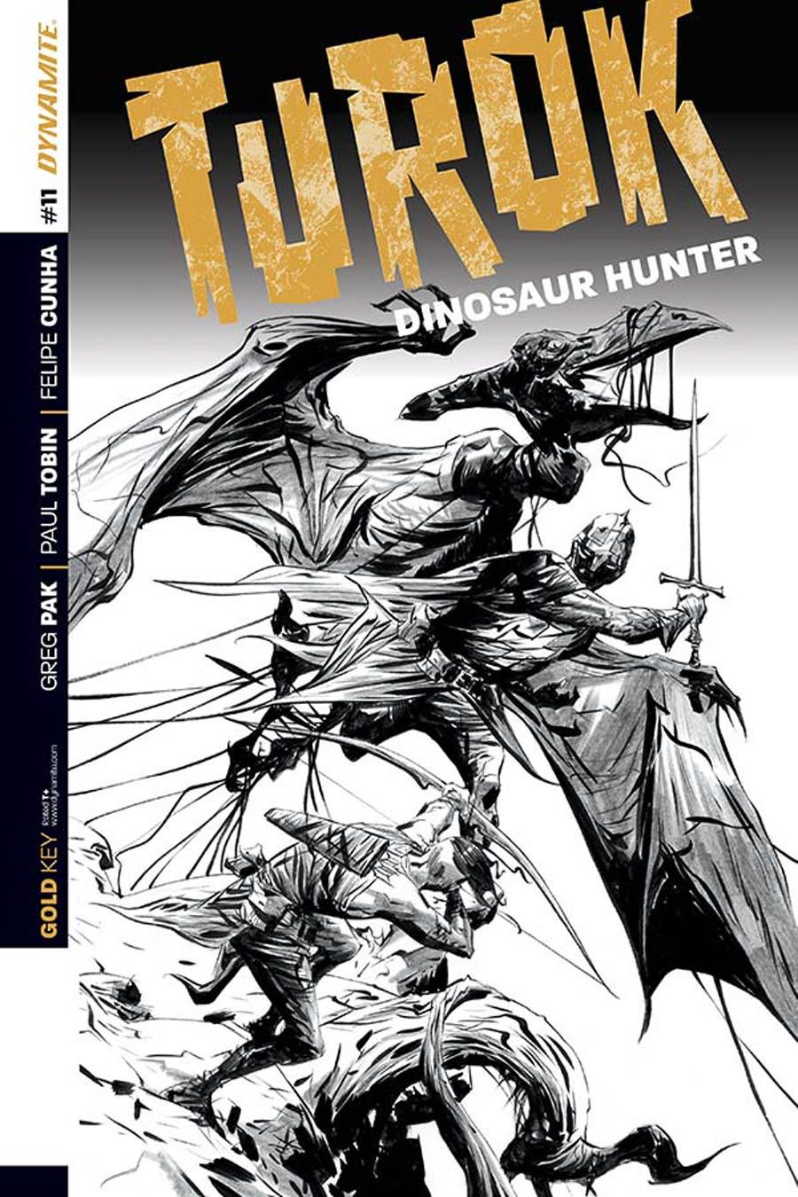 Turok Dinosaur Hunter Vol 2 #11 Cover D Incentive Jae Lee Black & White Cover