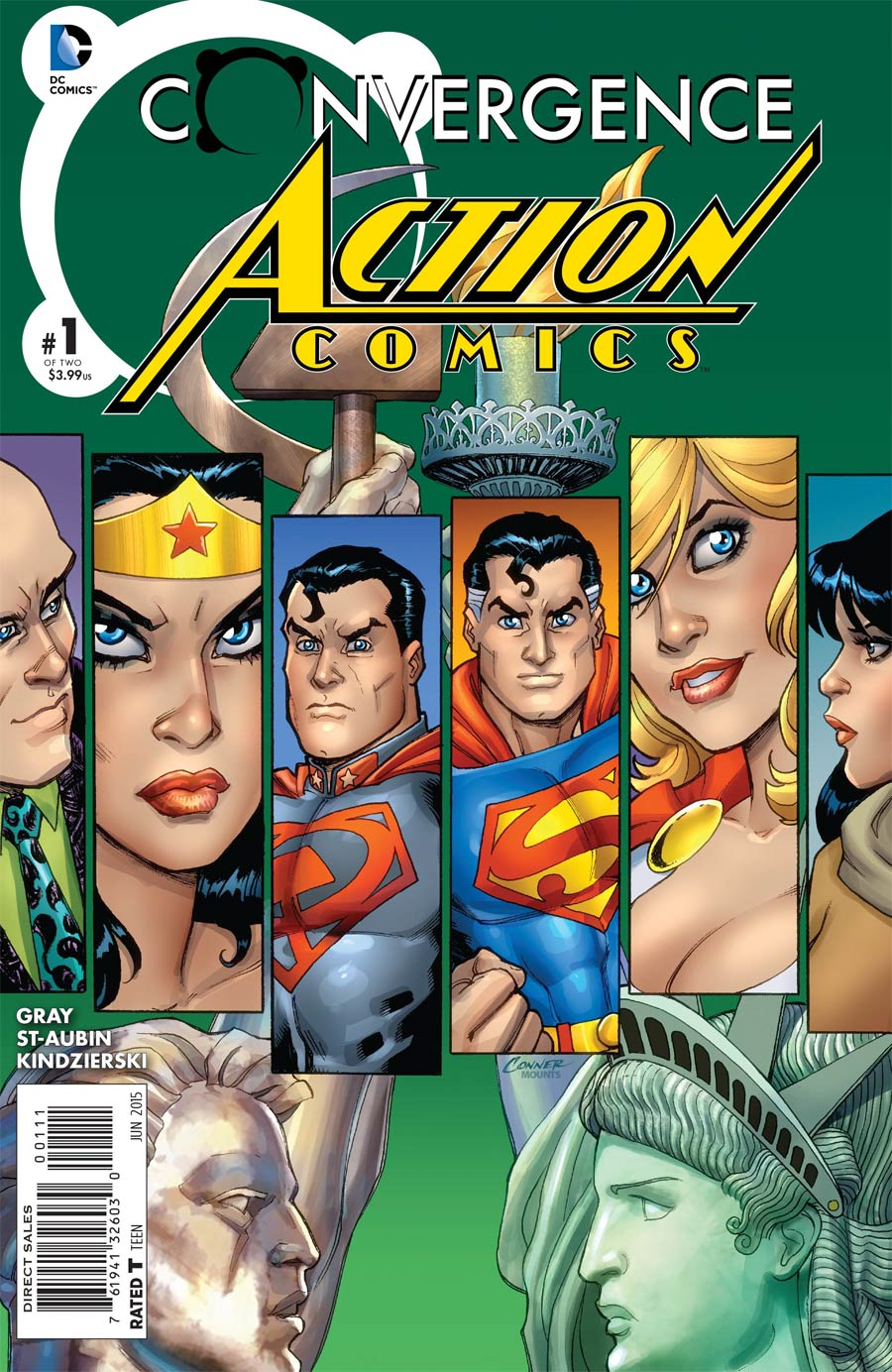 Convergence Action Comics #1 Cover A Regular Amanda Conner Cover