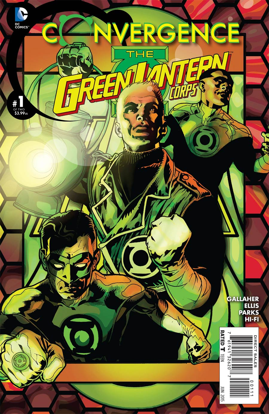 Convergence Green Lantern Corps #1 Cover A Regular Tony Harris Cover