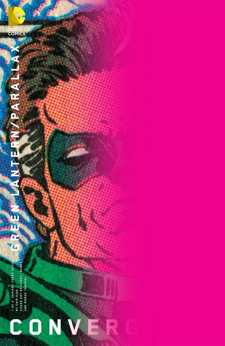 Convergence Green Lantern Parallax #1 Cover B Variant Chip Kidd Cover