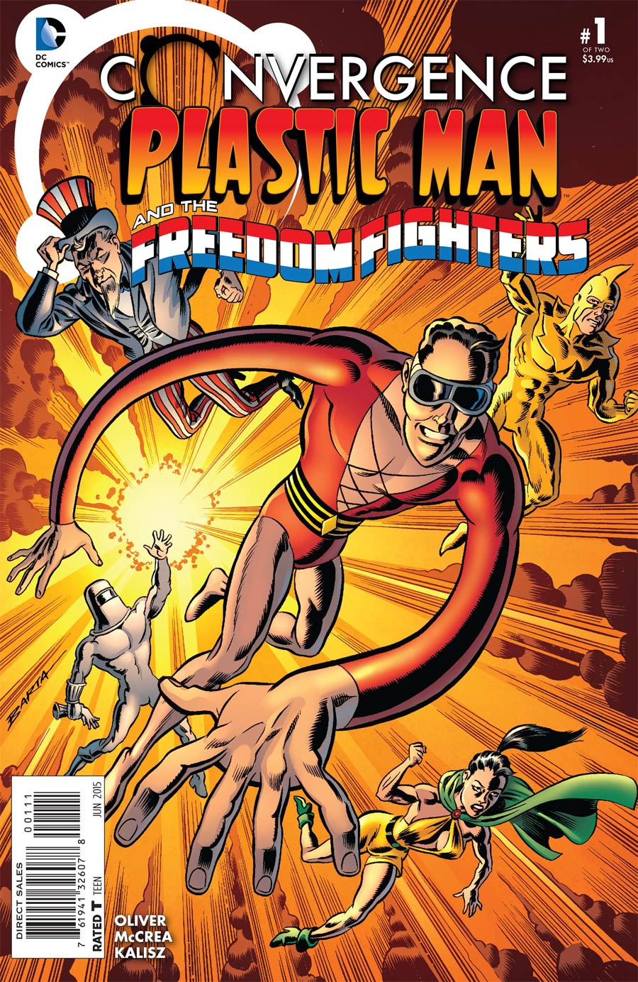 Convergence Plastic Man And The Freedom Fighters #1 Cover A Regular Hilary Barta Cover
