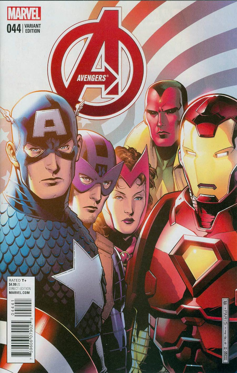 Avengers Vol 5 #44 Cover B Variant Jim Cheung End Of An Era Cover (Time Runs Out Tie-In)