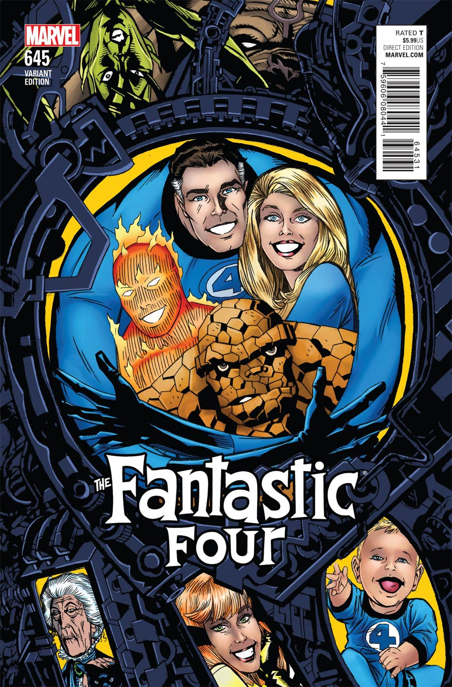 Fantastic Four Vol 5 #645 Cover B Variant Michael Golden Connecting Cover