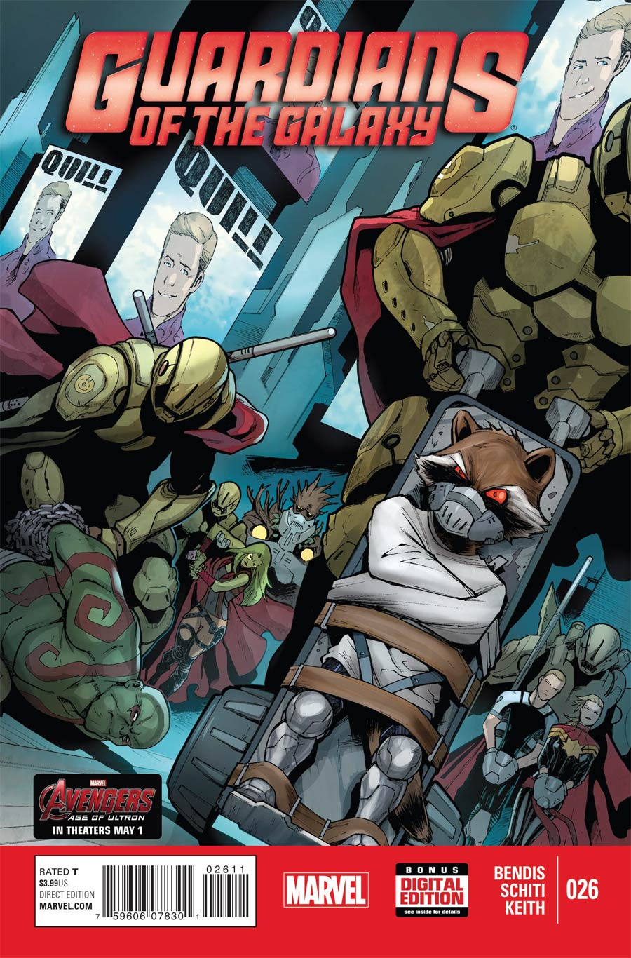 Guardians Of The Galaxy Vol 3 #26 Cover A Regular Valerio Schiti Cover