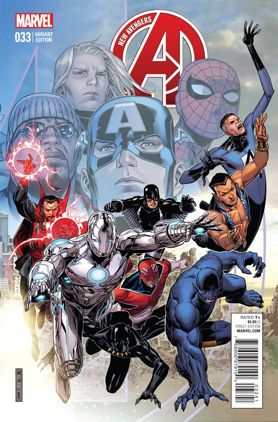 New Avengers Vol 3 #33 Cover B Variant Jim Cheung End Of An Era Cover (Time Runs Out Tie-In)