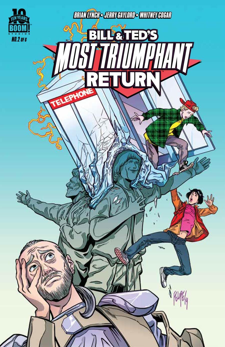 Bill & Teds Most Triumphant Return #2 Cover A Regular Felipe Smith Cover