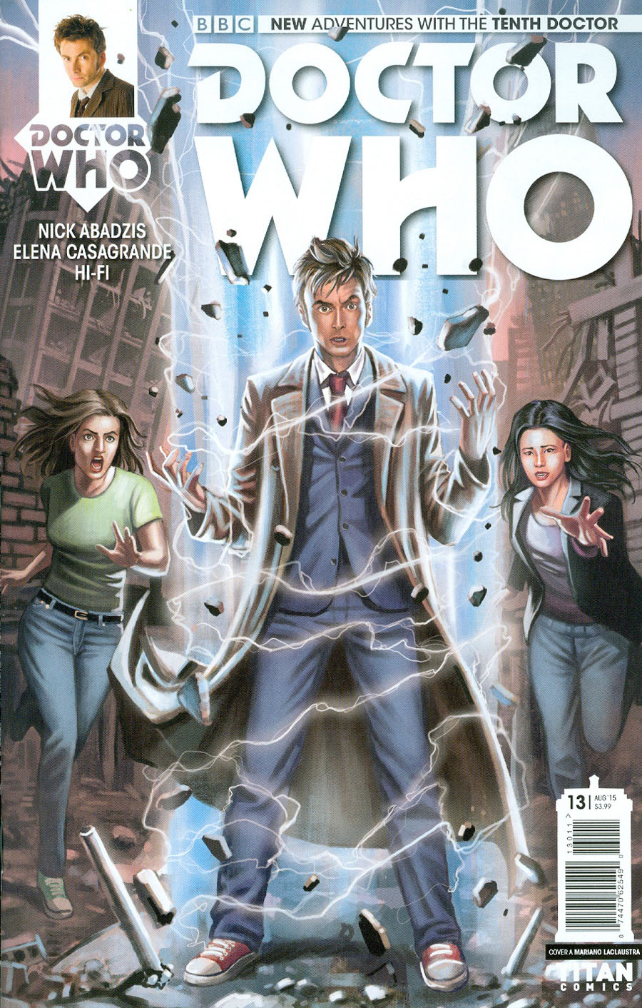 Doctor Who 10th Doctor #13 Cover A Regular Mariano Laclaustra Cover